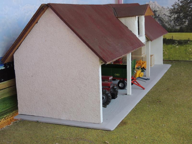 geb ude modellbau 1 32 ger teunterstand modell 1 32. Black Bedroom Furniture Sets. Home Design Ideas
